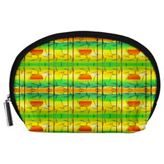 Birds Beach Sun Abstract Pattern Accessory Pouches (large)
