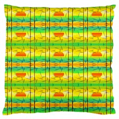Birds Beach Sun Abstract Pattern Standard Flano Cushion Case (two Sides)