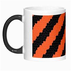 Black Orange Pattern Morph Mugs
