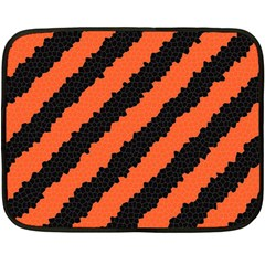 Black Orange Pattern Fleece Blanket (mini)