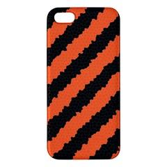 Black Orange Pattern Iphone 5s/ Se Premium Hardshell Case