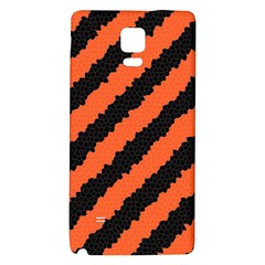 Black Orange Pattern Galaxy Note 4 Back Case