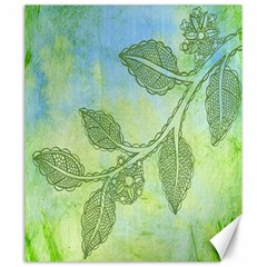 Green Leaves Background Scrapbook Canvas 20  X 24