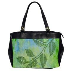 Green Leaves Background Scrapbook Office Handbags