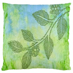 Green Leaves Background Scrapbook Large Cushion Case (one Side)