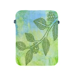 Green Leaves Background Scrapbook Apple Ipad 2/3/4 Protective Soft Cases