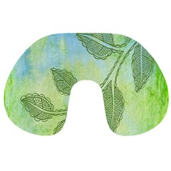 Green Leaves Background Scrapbook Travel Neck Pillows