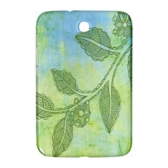 Green Leaves Background Scrapbook Samsung Galaxy Note 8 0 N5100 Hardshell Case