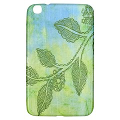Green Leaves Background Scrapbook Samsung Galaxy Tab 3 (8 ) T3100 Hardshell Case
