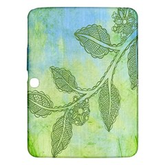 Green Leaves Background Scrapbook Samsung Galaxy Tab 3 (10 1 ) P5200 Hardshell Case