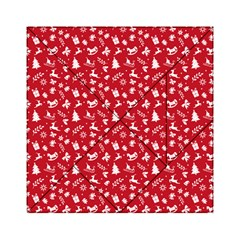 Red Christmas Pattern Acrylic Tangram Puzzle (6  X 6 )