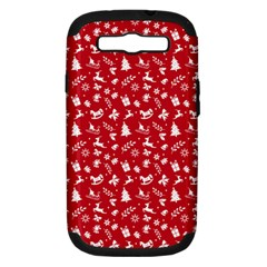 Red Christmas Pattern Samsung Galaxy S Iii Hardshell Case (pc+silicone)