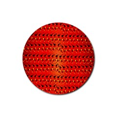 Texture Banner Hearts Flag Germany Rubber Coaster (round)