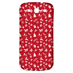 Red Christmas Pattern Samsung Galaxy S3 S Iii Classic Hardshell Back Case