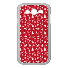 Red Christmas Pattern Samsung Galaxy Grand Duos I9082 Case (white)