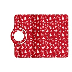 Red Christmas Pattern Kindle Fire Hd (2013) Flip 360 Case