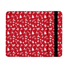 Red Christmas Pattern Samsung Galaxy Tab Pro 8 4  Flip Case