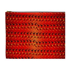 Texture Banner Hearts Flag Germany Cosmetic Bag (xl)