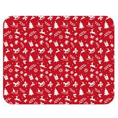Red Christmas Pattern Double Sided Flano Blanket (medium)