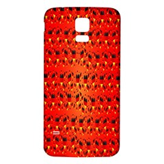 Texture Banner Hearts Flag Germany Samsung Galaxy S5 Back Case (white)
