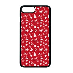 Red Christmas Pattern Apple Iphone 7 Plus Seamless Case (black)