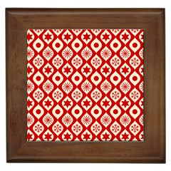 Ornate Christmas Decor Pattern Framed Tiles