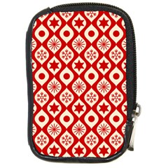 Ornate Christmas Decor Pattern Compact Camera Cases
