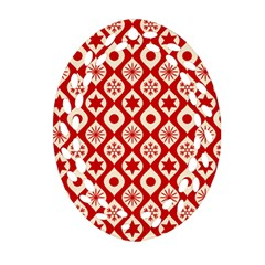 Ornate Christmas Decor Pattern Ornament (oval Filigree)