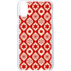 Ornate Christmas Decor Pattern Apple Iphone X Seamless Case (white)