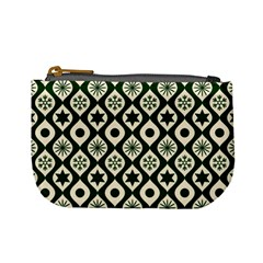 Green Ornate Christmas Pattern Mini Coin Purses