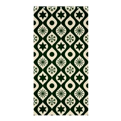 Green Ornate Christmas Pattern Shower Curtain 36  X 72  (stall)