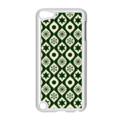 Green Ornate Christmas Pattern Apple Ipod Touch 5 Case (white)