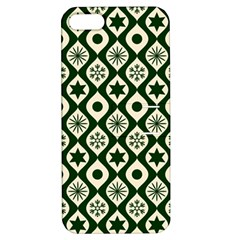 Green Ornate Christmas Pattern Apple Iphone 5 Hardshell Case With Stand