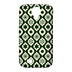 Green Ornate Christmas Pattern Samsung Galaxy S4 Classic Hardshell Case (pc+silicone)