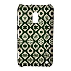 Green Ornate Christmas Pattern Nokia Lumia 620