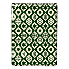Green Ornate Christmas Pattern Ipad Air Hardshell Cases