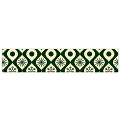 Green Ornate Christmas Pattern Small Flano Scarf