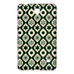 Green Ornate Christmas Pattern Samsung Galaxy Tab 4 (8 ) Hardshell Case