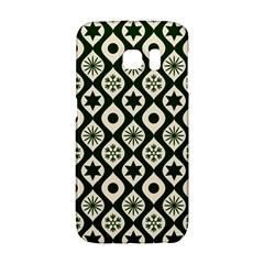 Green Ornate Christmas Pattern Galaxy S6 Edge
