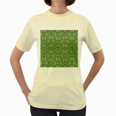 Art Pattern Design Holiday Color Women s Yellow T Shirt