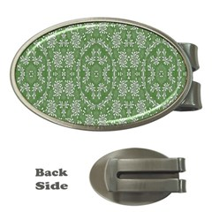 Art Pattern Design Holiday Color Money Clips (oval)