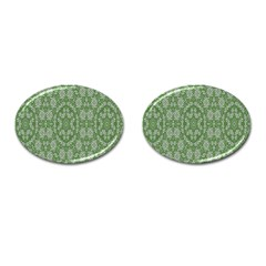 Art Pattern Design Holiday Color Cufflinks (oval)