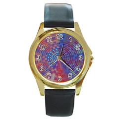 Gateway To The Light 5 Round Gold Metal Watch