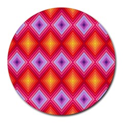Texture Surface Orange Pink Round Mousepads