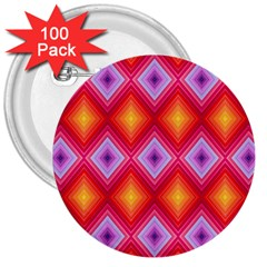 Texture Surface Orange Pink 3  Buttons (100 Pack)