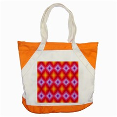 Texture Surface Orange Pink Accent Tote Bag