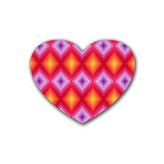 Texture Surface Orange Pink Heart Coaster (4 Pack)