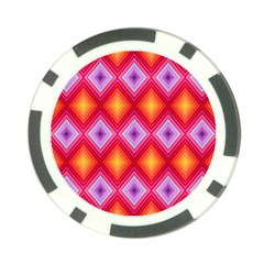 Texture Surface Orange Pink Poker Chip Card Guard