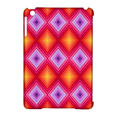 Texture Surface Orange Pink Apple Ipad Mini Hardshell Case (compatible With Smart Cover)