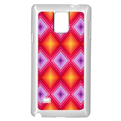 Texture Surface Orange Pink Samsung Galaxy Note 4 Case (white)